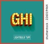 lightbulb typeface vector...   Shutterstock .eps vector #226019464