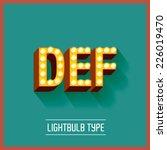 lightbulb typeface vector...   Shutterstock .eps vector #226019470