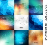 abstract design template set