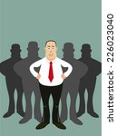 leader and his team. | Shutterstock .eps vector #226023040