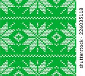 knitted seamless gray paper... | Shutterstock .eps vector #226035118