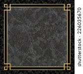 black marble background with... | Shutterstock .eps vector #226035670