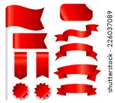 red ribbons set isolated on... | Shutterstock .eps vector #226037089