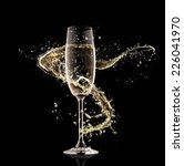 celebration theme. glass of... | Shutterstock . vector #226041970