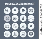 server  administration icons ... | Shutterstock .eps vector #226042756