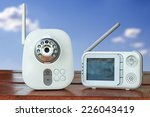 the close up baby monitor for... | Shutterstock . vector #226043419