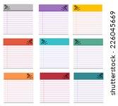 notebook multicolor vector | Shutterstock .eps vector #226045669