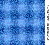 blue pixel mosaic background  | Shutterstock .eps vector #226050748