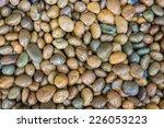 Wet Pebble Stone Background