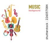 vector music background | Shutterstock .eps vector #226057084