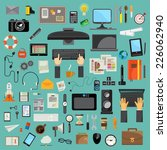 computer technology  icon set... | Shutterstock .eps vector #226062940