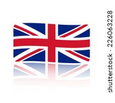 flag united kingdom. made in... | Shutterstock .eps vector #226063228