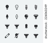 bulb shapes and types vector... | Shutterstock .eps vector #226063249