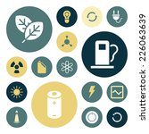 flat design icons for energy...