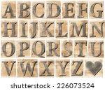 wooden alphabet letter blocks...