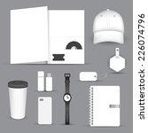 set of blank merchandising... | Shutterstock .eps vector #226074796