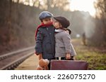 Two Boys On A Railway Station ...