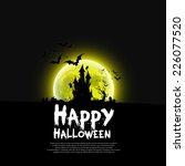 happy halloween message design...   Shutterstock .eps vector #226077520