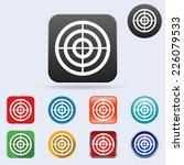 target flat vector icons... | Shutterstock .eps vector #226079533