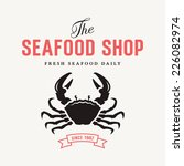 Seafood Shop Sign With...