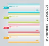 infographics template for... | Shutterstock .eps vector #226087108