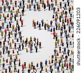 a large group of people in... | Shutterstock .eps vector #226091203