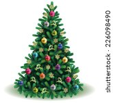 christmas tree | Shutterstock .eps vector #226098490