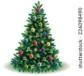 christmas tree | Shutterstock .eps vector #226098490