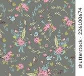floral garden seamless pattern | Shutterstock .eps vector #226100674