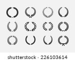 set of wreaths  wheat circular... | Shutterstock . vector #226103614