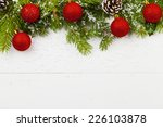 christmas decoration on the... | Shutterstock . vector #226103878
