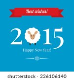 chinese zodiac 2015   year of... | Shutterstock .eps vector #226106140