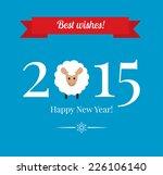 chinese zodiac 2015   year of... | Shutterstock .eps vector #226106140