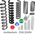 springs in the graphic set. | Shutterstock .eps vector #226112656