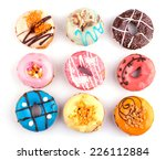 colorful delicious donuts... | Shutterstock . vector #226112884