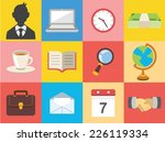 vector business color flat icon ...