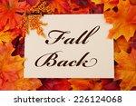 a fall back card  a beige card... | Shutterstock . vector #226124068