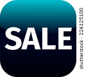 blue text sale icon for app  ... | Shutterstock .eps vector #226125100