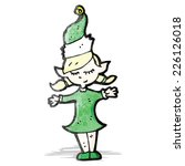 cartoon christmas elf | Shutterstock .eps vector #226126018