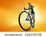 Sport. Cyclist Isolated.