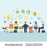 business meeting and... | Shutterstock .eps vector #226132510