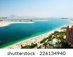 view on jumeirah palm man made...   Shutterstock . vector #226134940