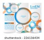 tri fold brochure template | Shutterstock .eps vector #226136434
