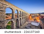 Segovia  Spain Town View At...
