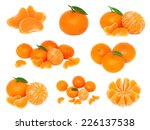 Set Whole And Sliced Mandarine...