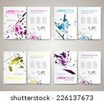 set of modern abstract brochure ... | Shutterstock .eps vector #226137673