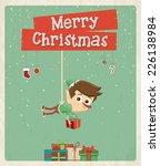 christmas greeting card design. ... | Shutterstock .eps vector #226138984