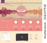 website template with a retro...