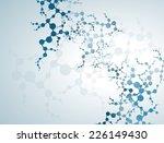 molecule heart healthcare and... | Shutterstock .eps vector #226149430