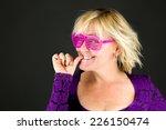 nervous model bting finger nails | Shutterstock . vector #226150474